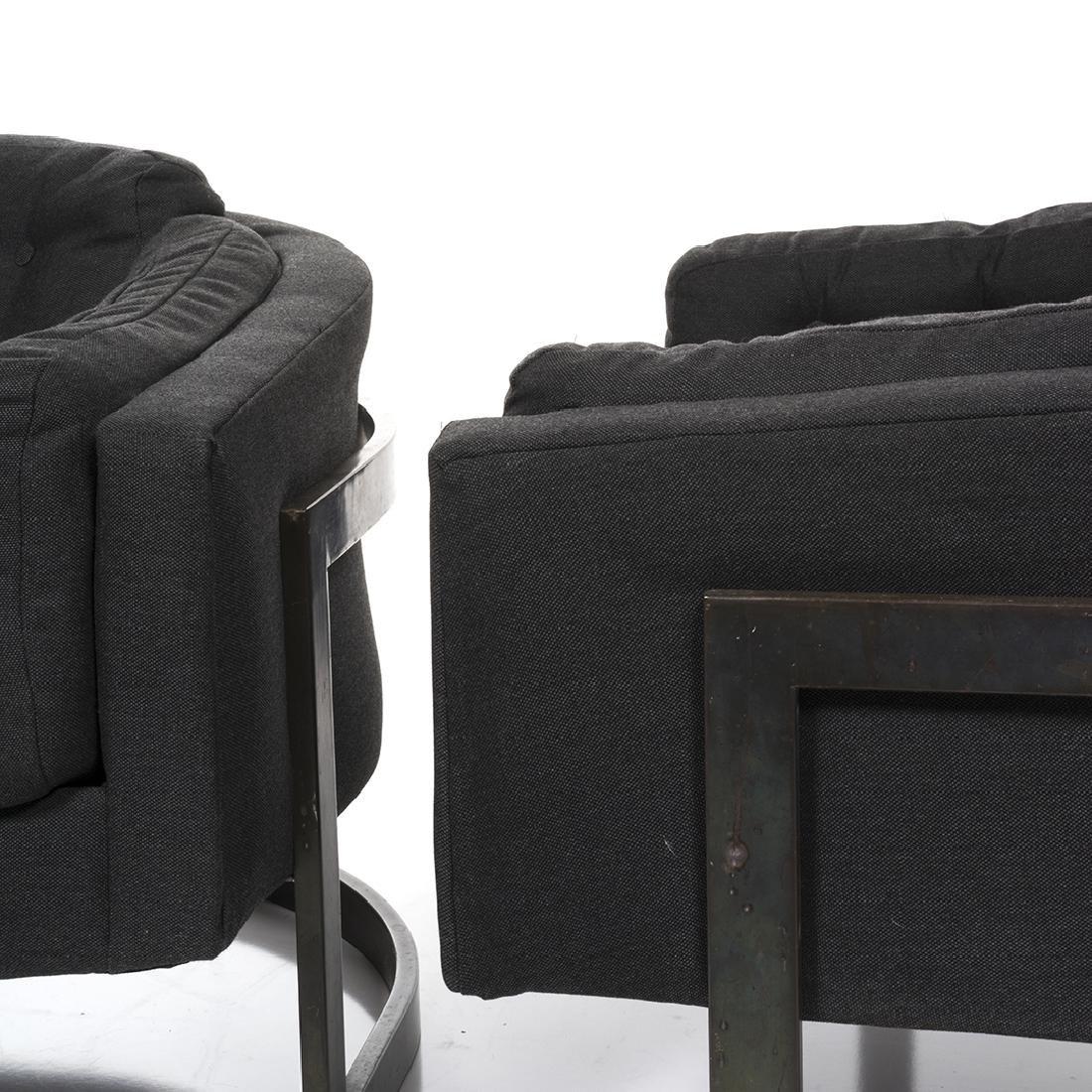 Jules Heumann Bronze Lounge Chairs (2) - 4