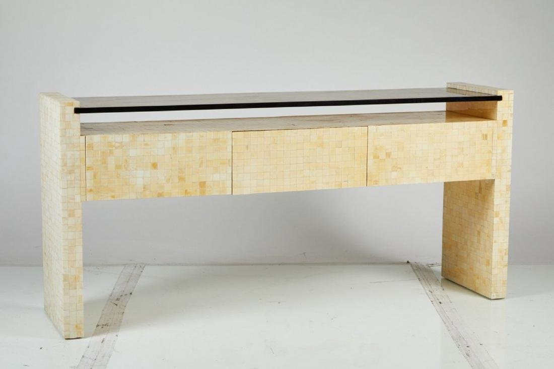 Tessellated Bone Console Table - 3