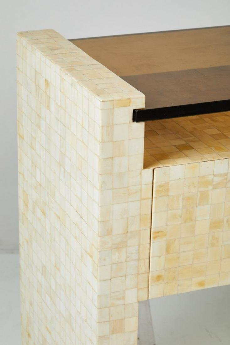 Tessellated Bone Console Table - 4