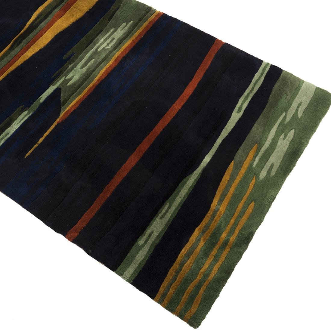 Modernist Abstract Wool Rug - 2