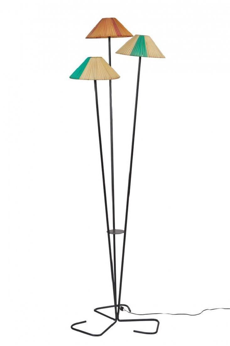 French Three-Shade Floor Lamp