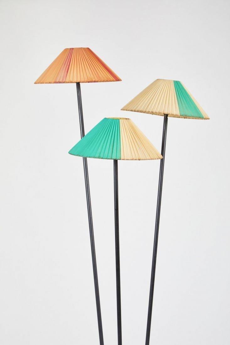 French Three-Shade Floor Lamp - 2