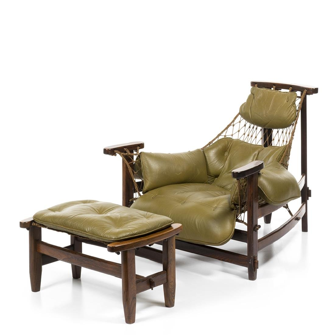 Jean Gillon Lounge Chair and Ottoman (2)