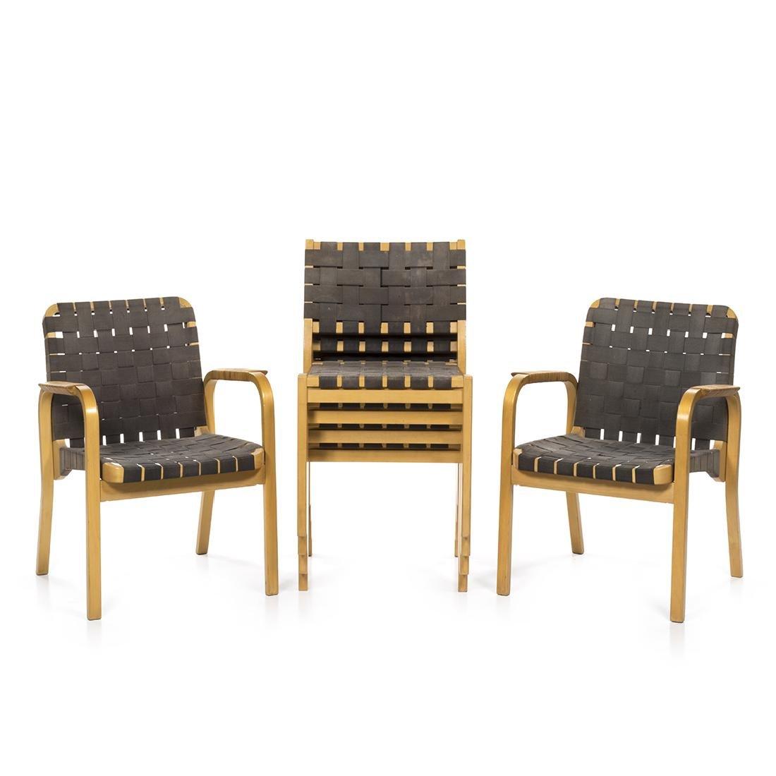Alvar Aalto Model 611 Chairs (6)