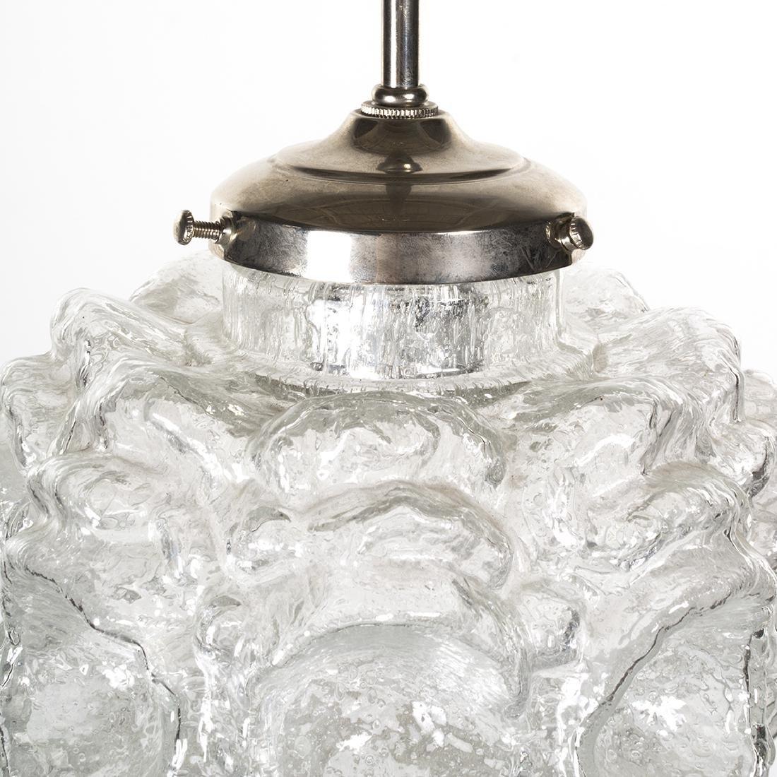 Textured Glass Pendant Lamp - 3