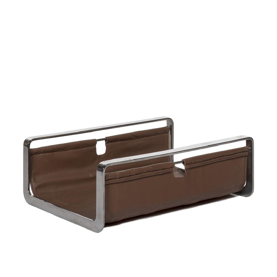 Leather and Chrome Log Holder