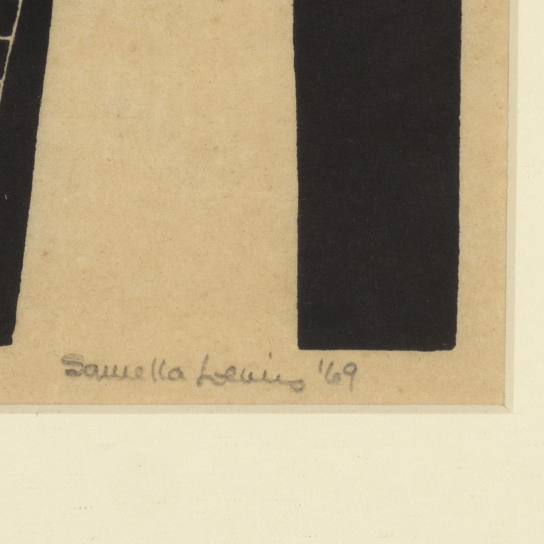 Samella Lewis Landscape Linocut - 2