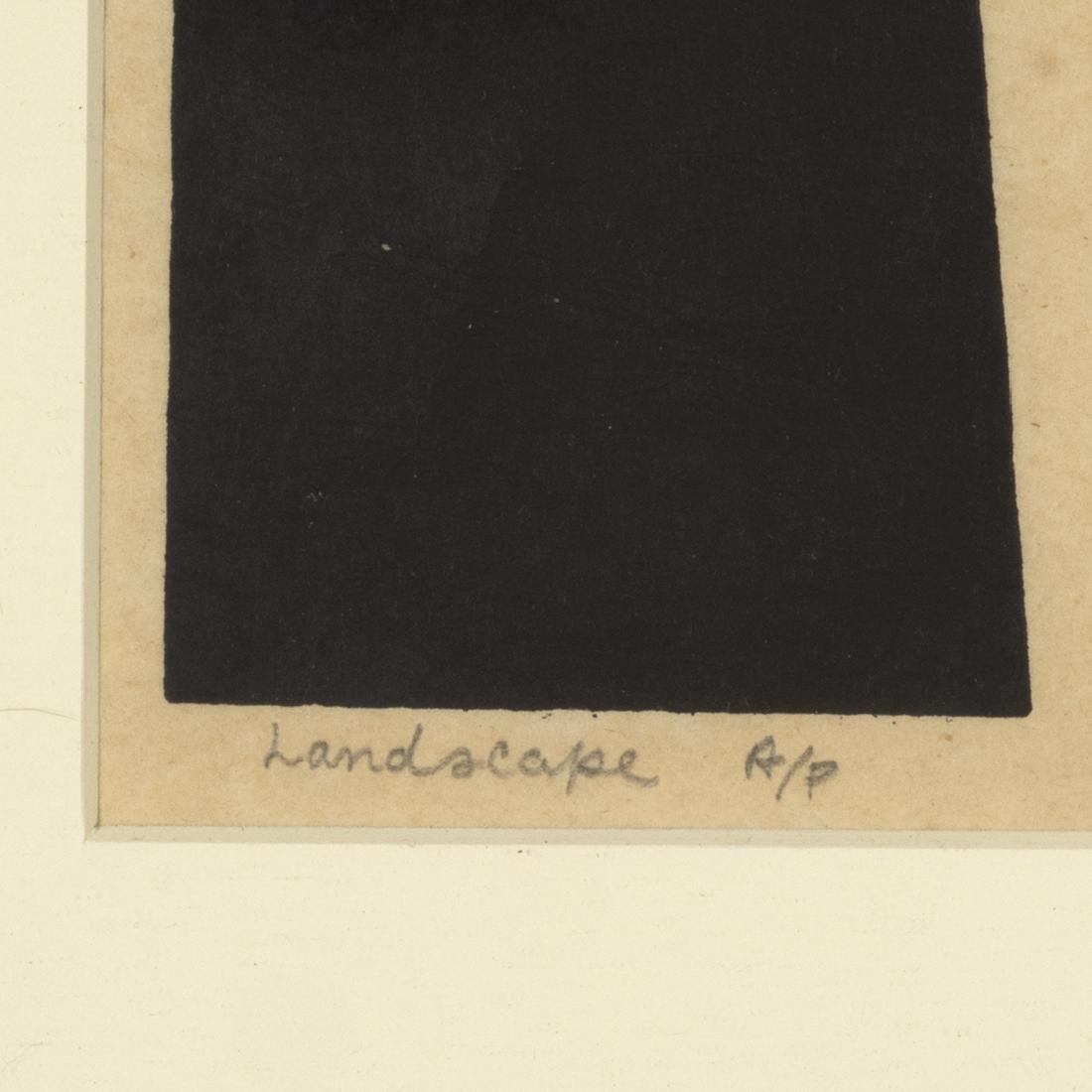Samella Lewis Landscape Linocut - 3