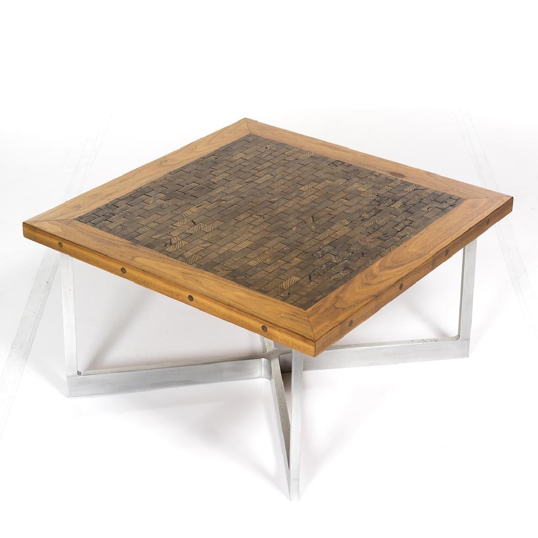 Butcher Block Craft Coffee Table - 2