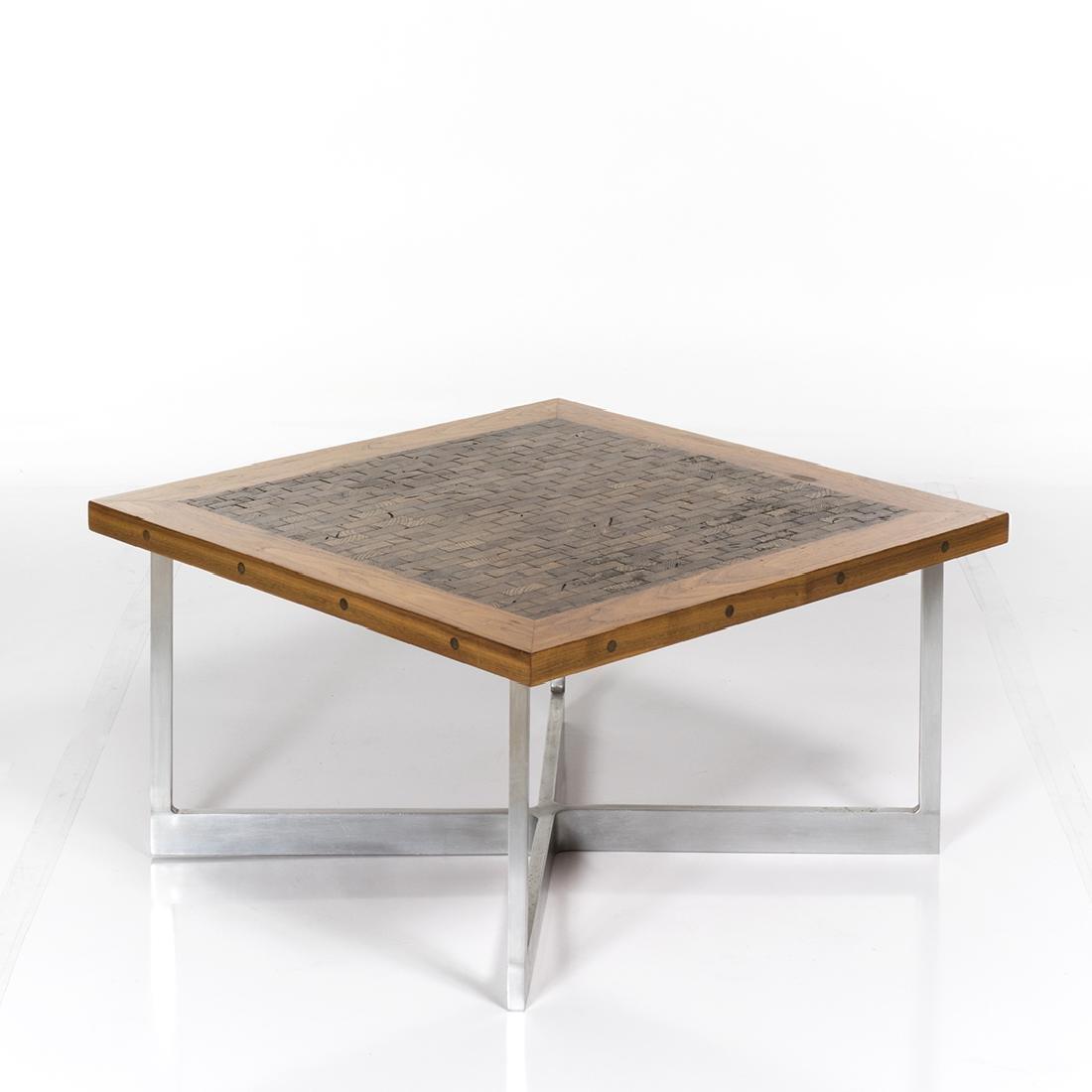 Butcher Block Craft Coffee Table - 3