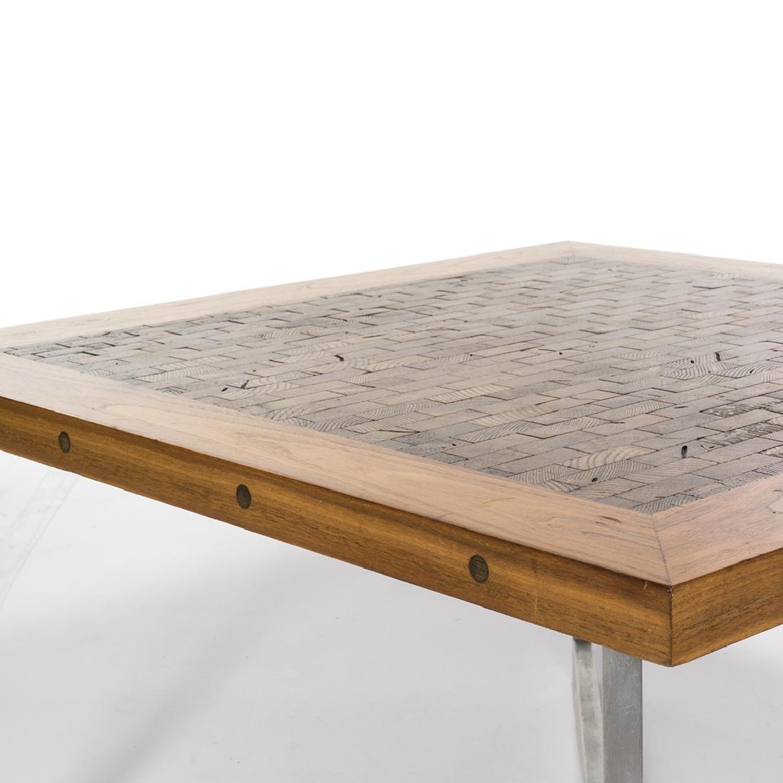 Butcher Block Craft Coffee Table - 4