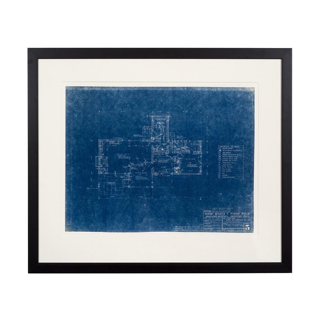 Walter Gropius and Marcel Breuer Blueprint