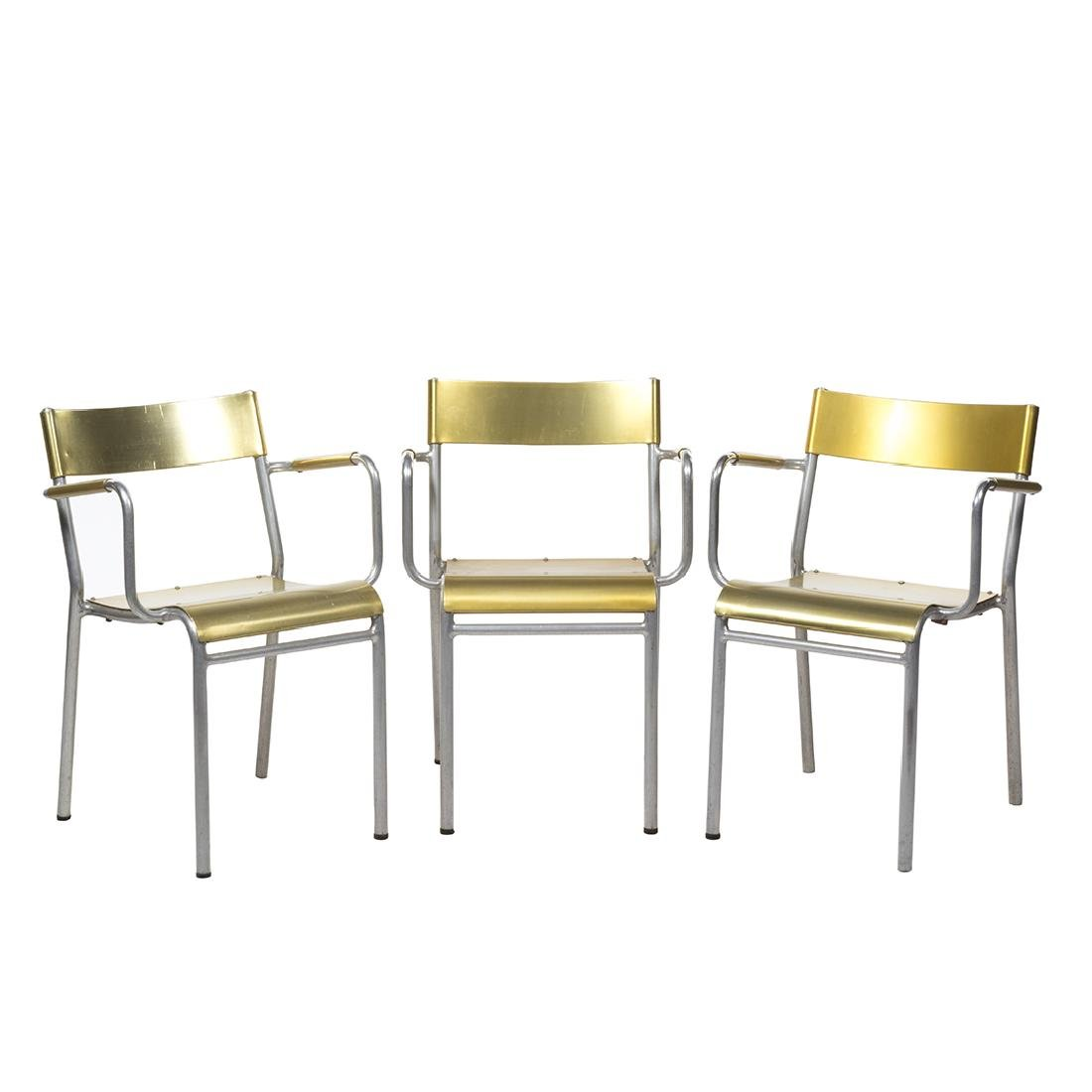 Franco Albini Attributed Stacking Chairs (3)