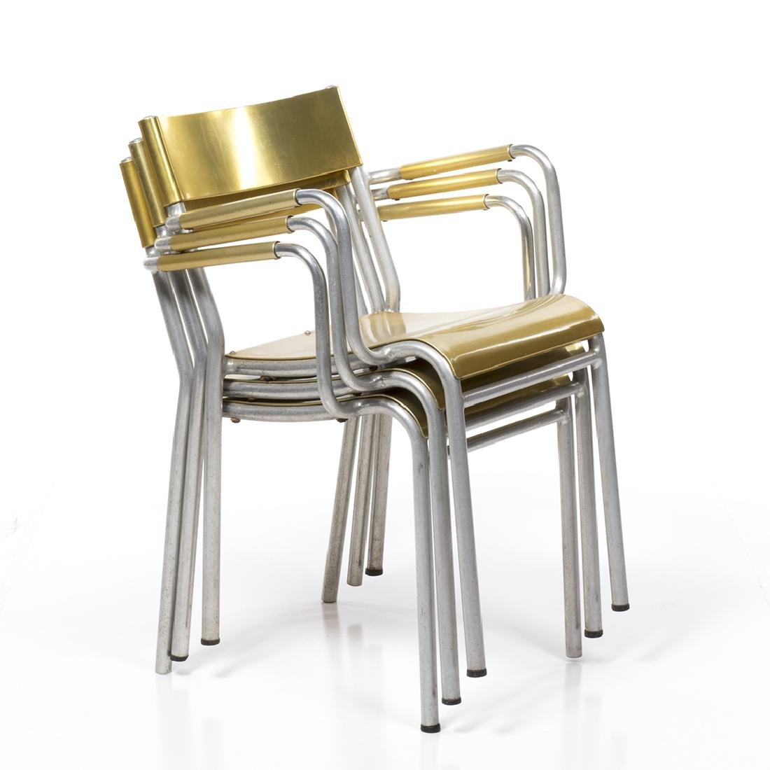 Franco Albini Attributed Stacking Chairs (3) - 2