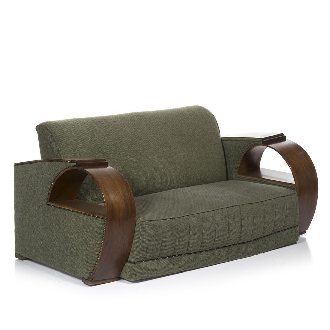Art Deco Bent Arm Sofa