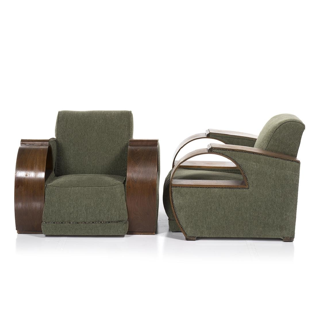 Art Deco Bent Arm Chairs (2) - 2
