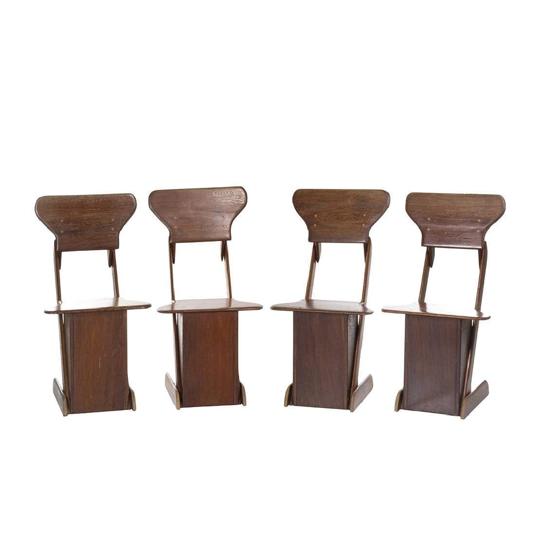 Pine Craft Dining Chairs (4)