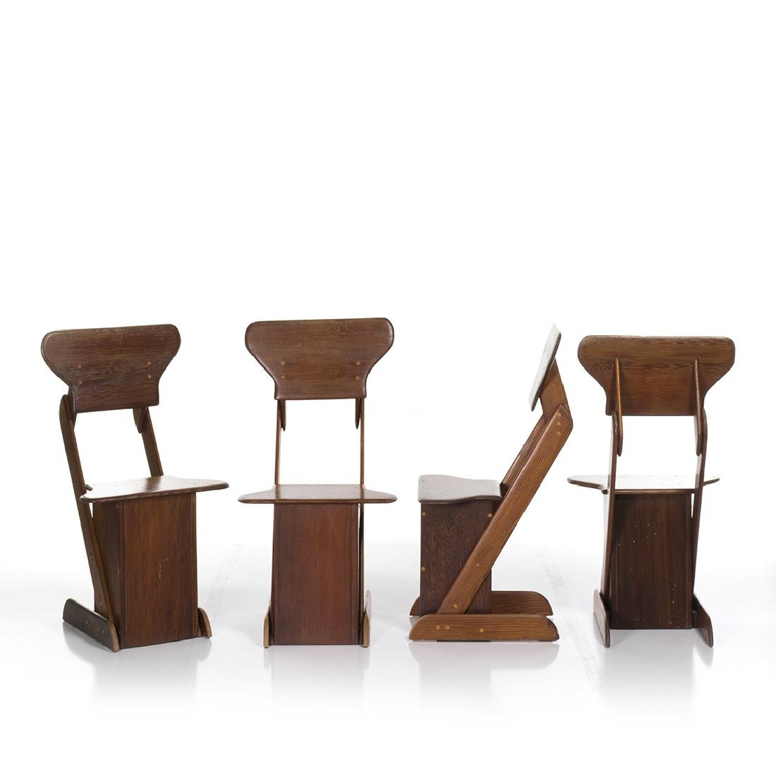 Pine Craft Dining Chairs (4) - 3