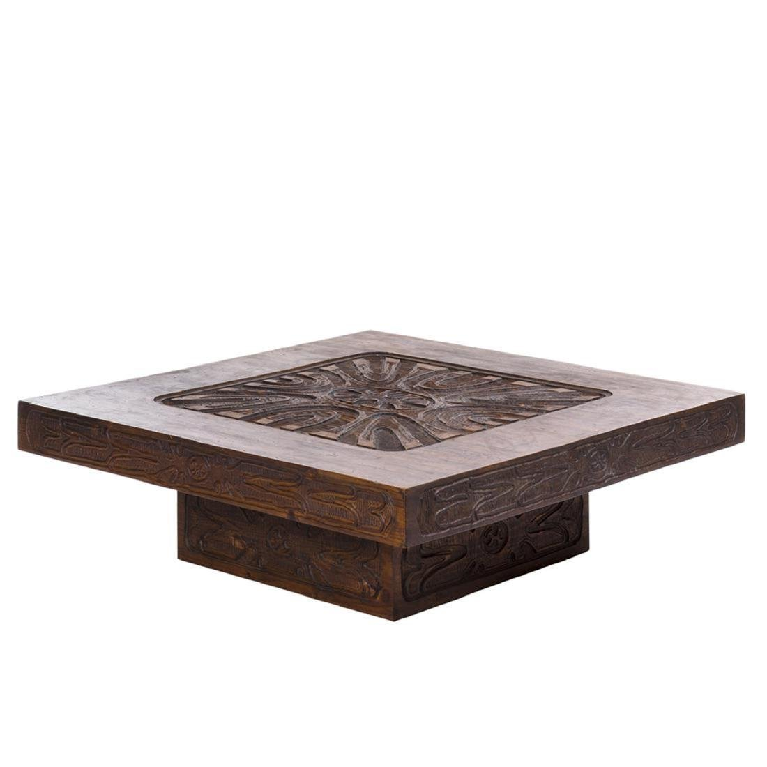 Carved Abstract Coffee Table - 6