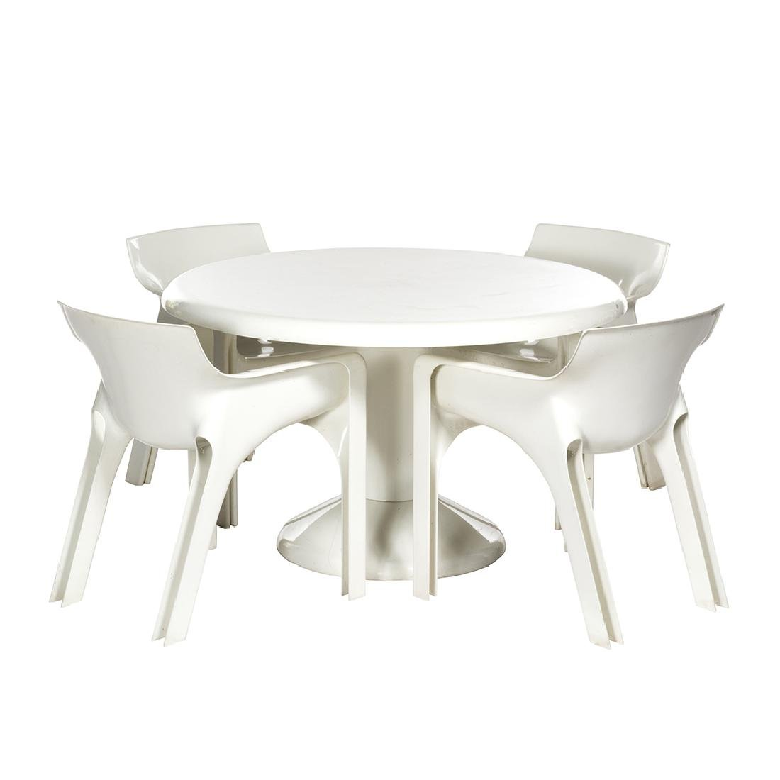 Vico Magistretti Table and chairs (5)
