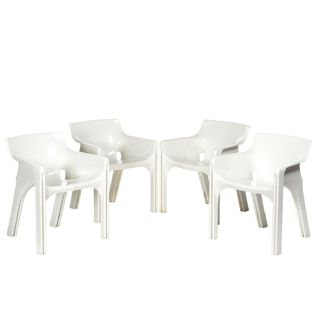 Vico Magistretti Gaudi Chairs (4)