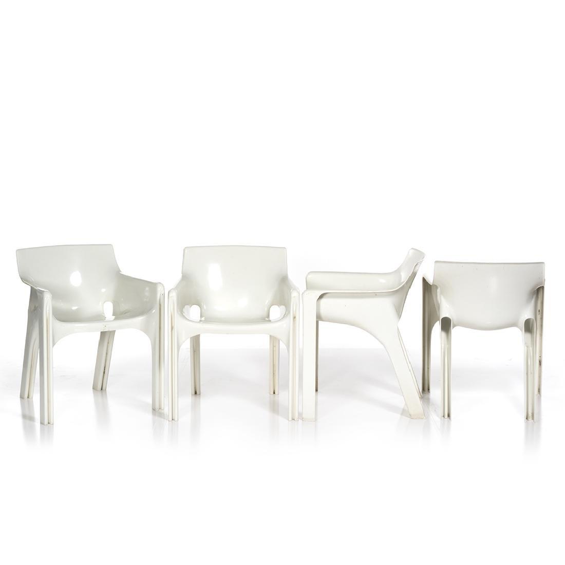 Vico Magistretti Gaudi Chairs (4) - 2