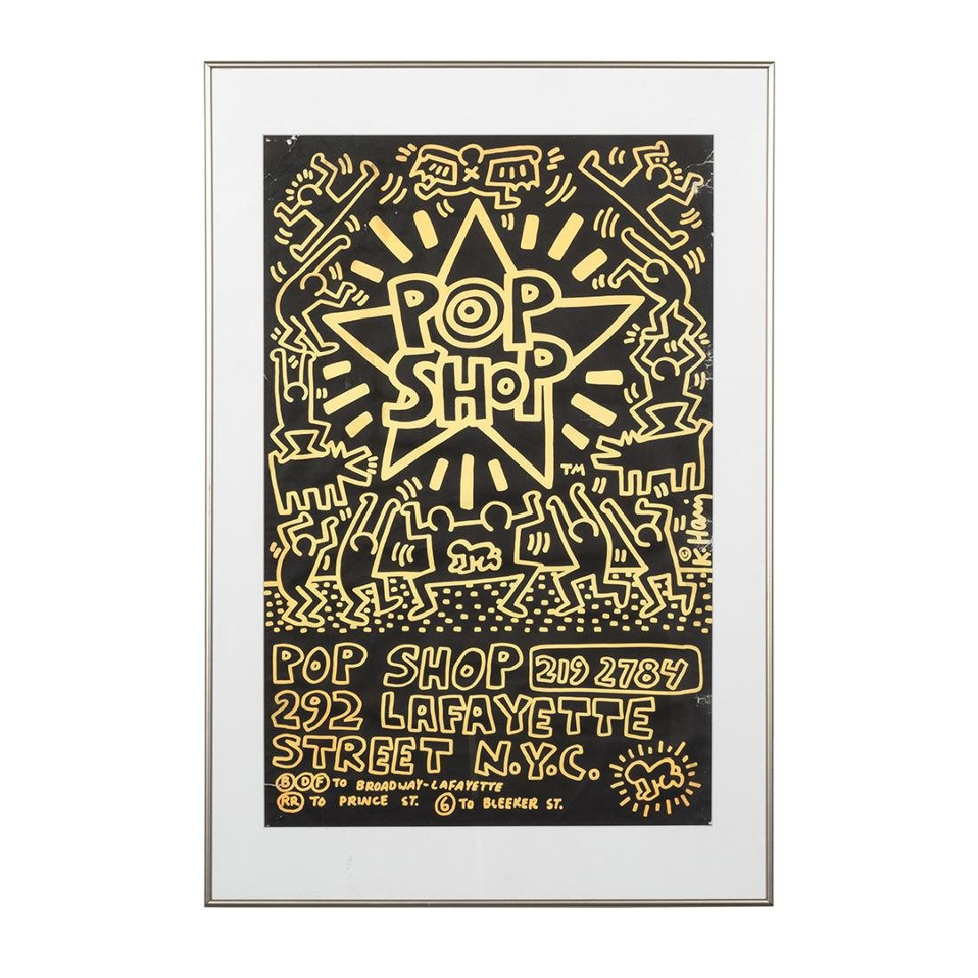 Keith Haring Pop Shop Poster