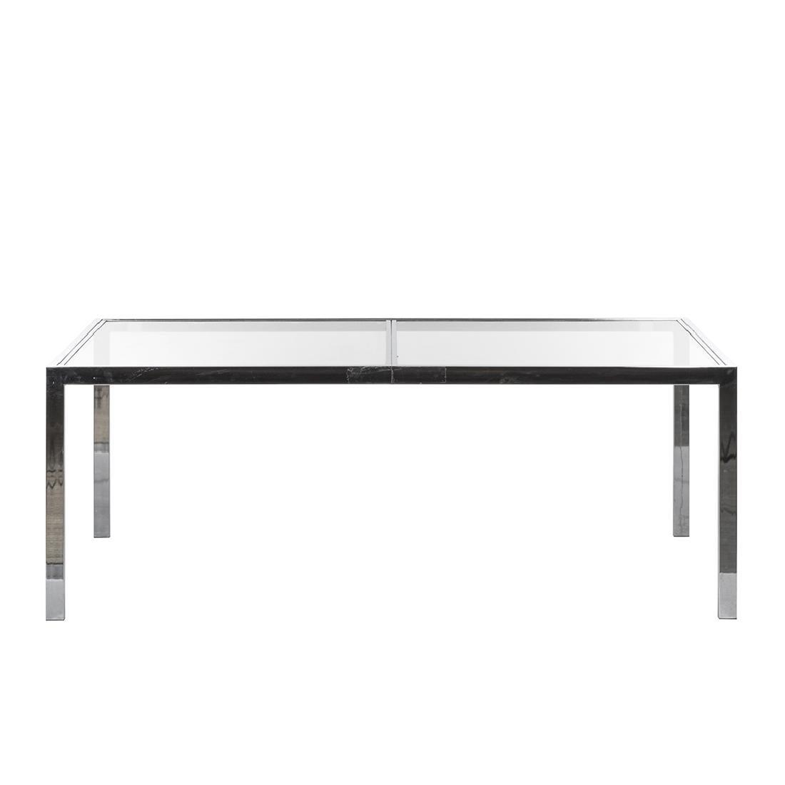 Milo Baughman Chrome and Glass Dining Table