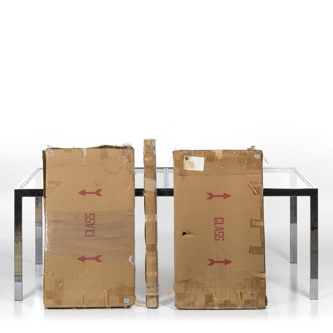 Milo Baughman Chrome and Glass Dining Table - 2