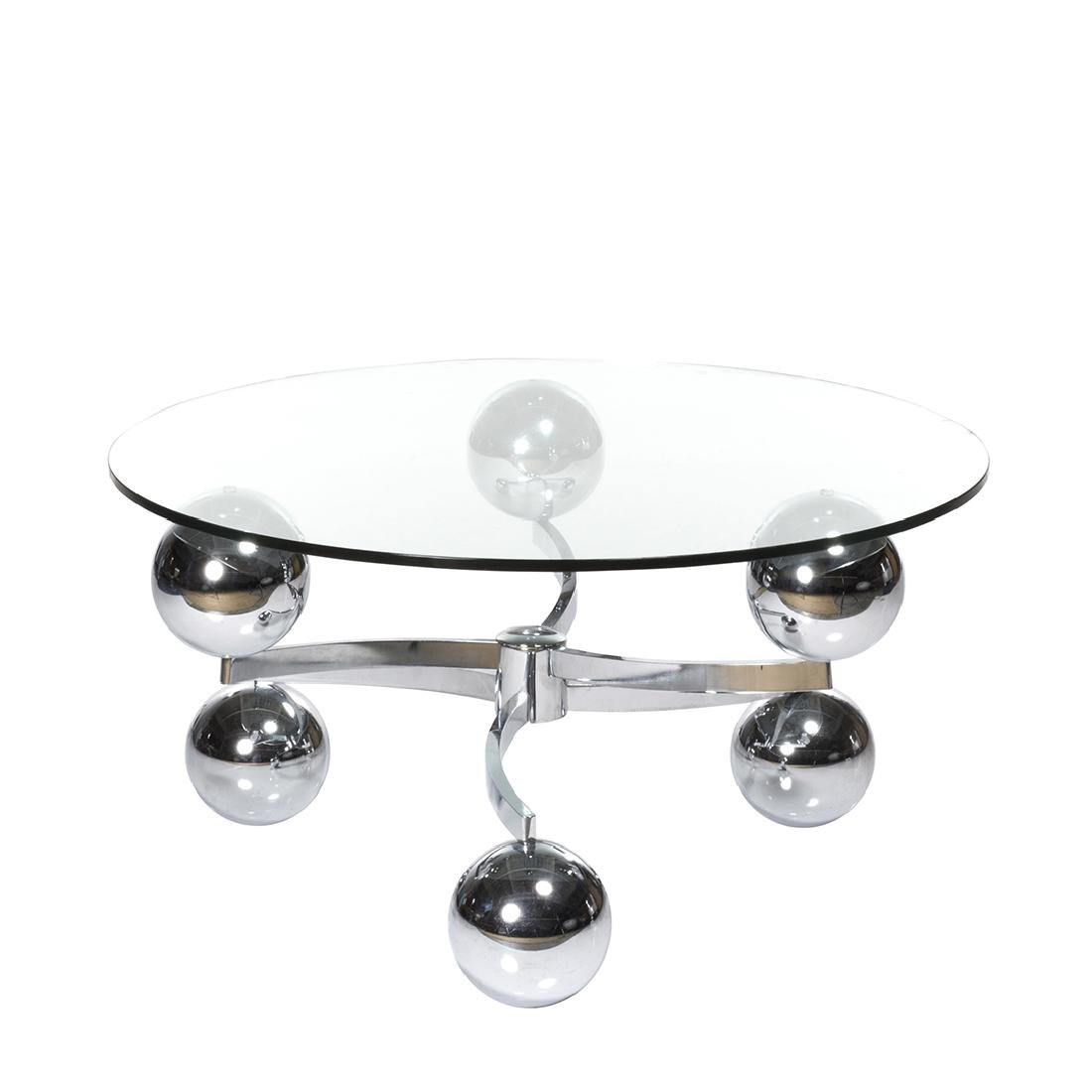 French Chrome Coffee Table