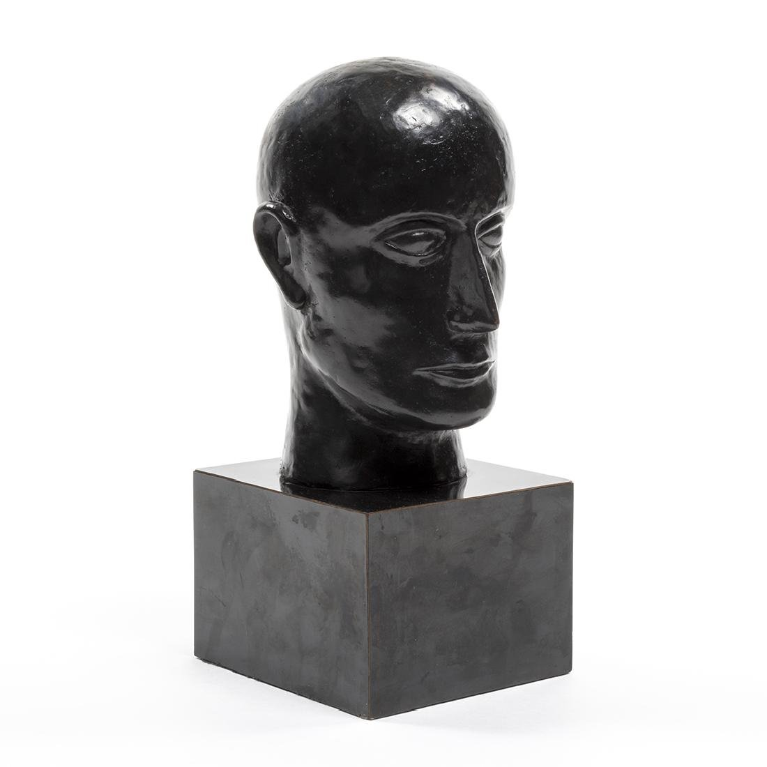 Bronze Head Sculpture