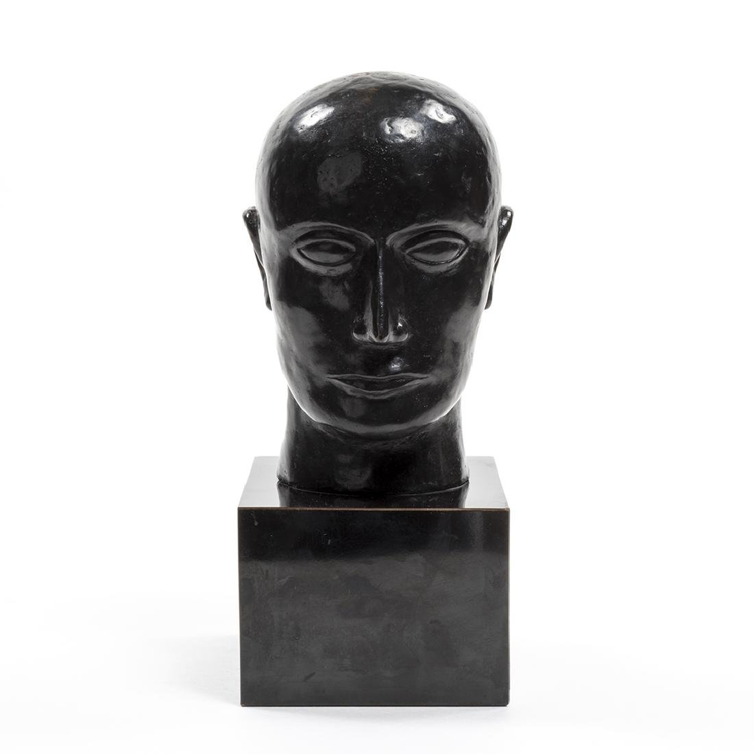 Bronze Head Sculpture - 2