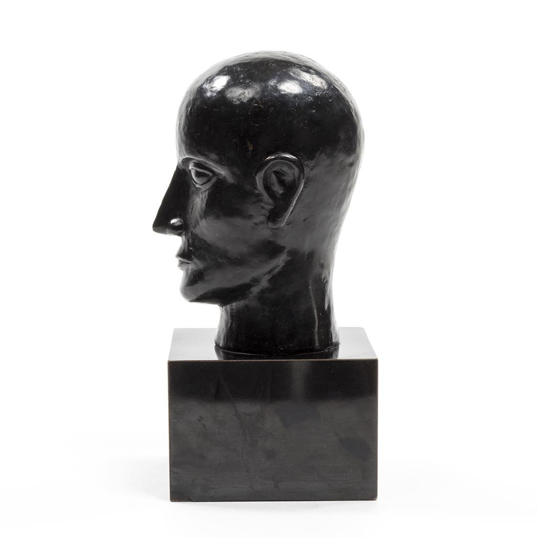 Bronze Head Sculpture - 3