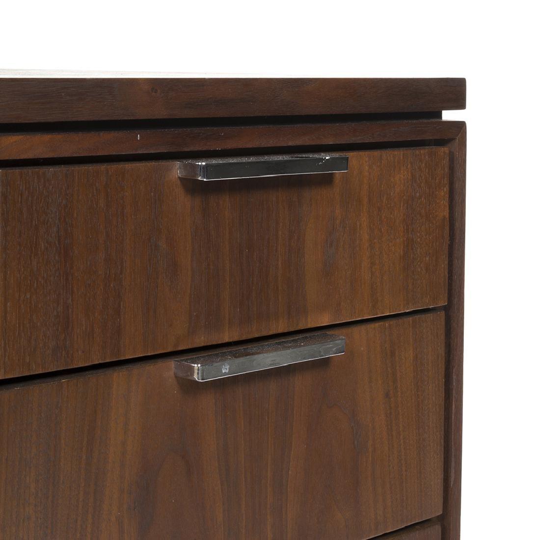Walnut and Chrome Desk - 3