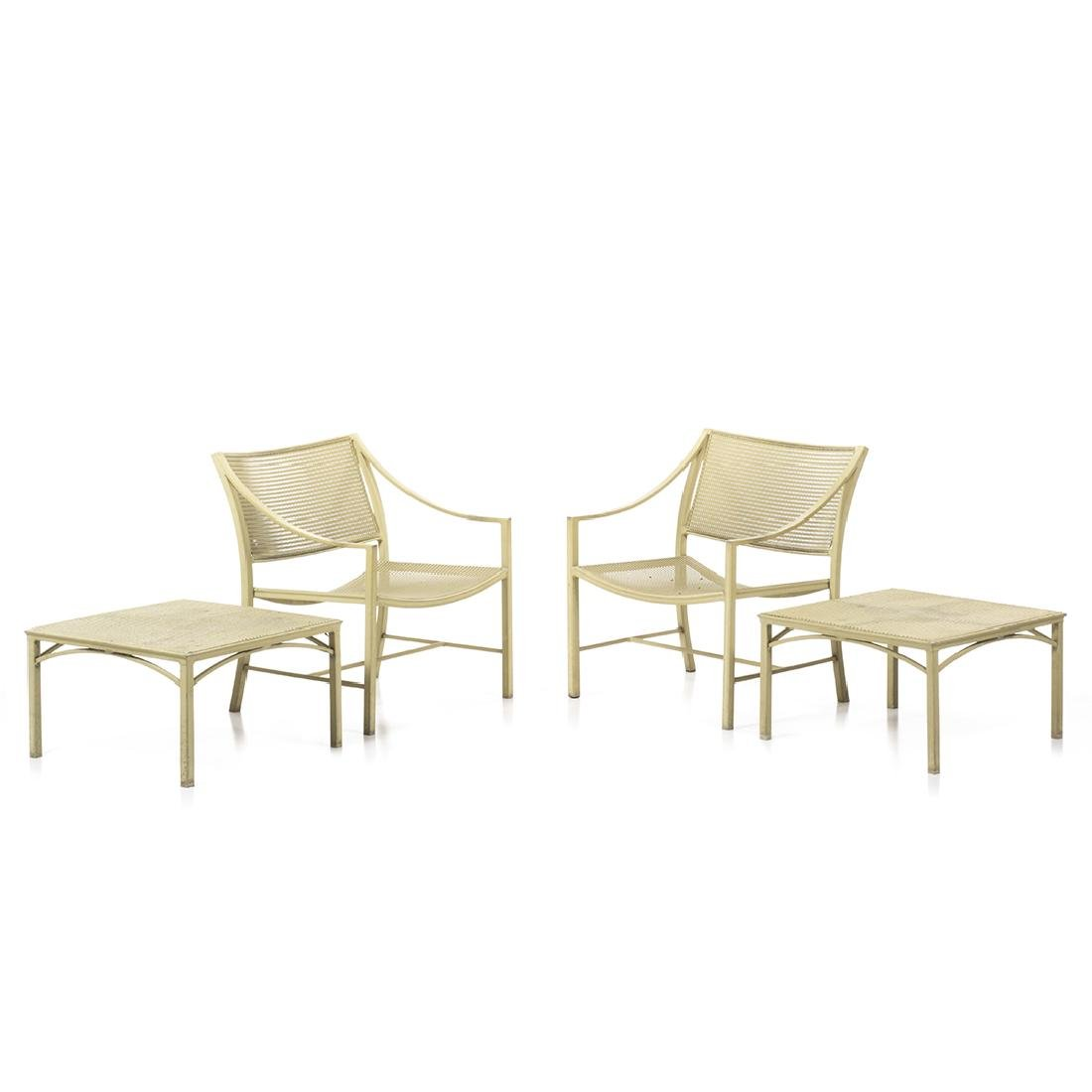 Brown Jordan Alumicane Lounge Chairs and Tables (4)