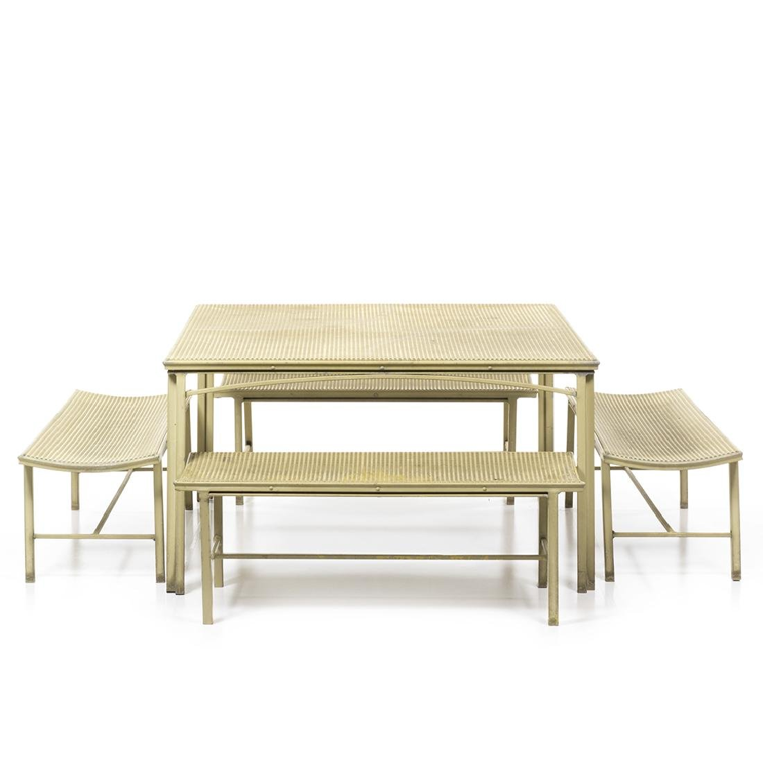 Brown Jordan Alumicane Dining Table and Benches (5)