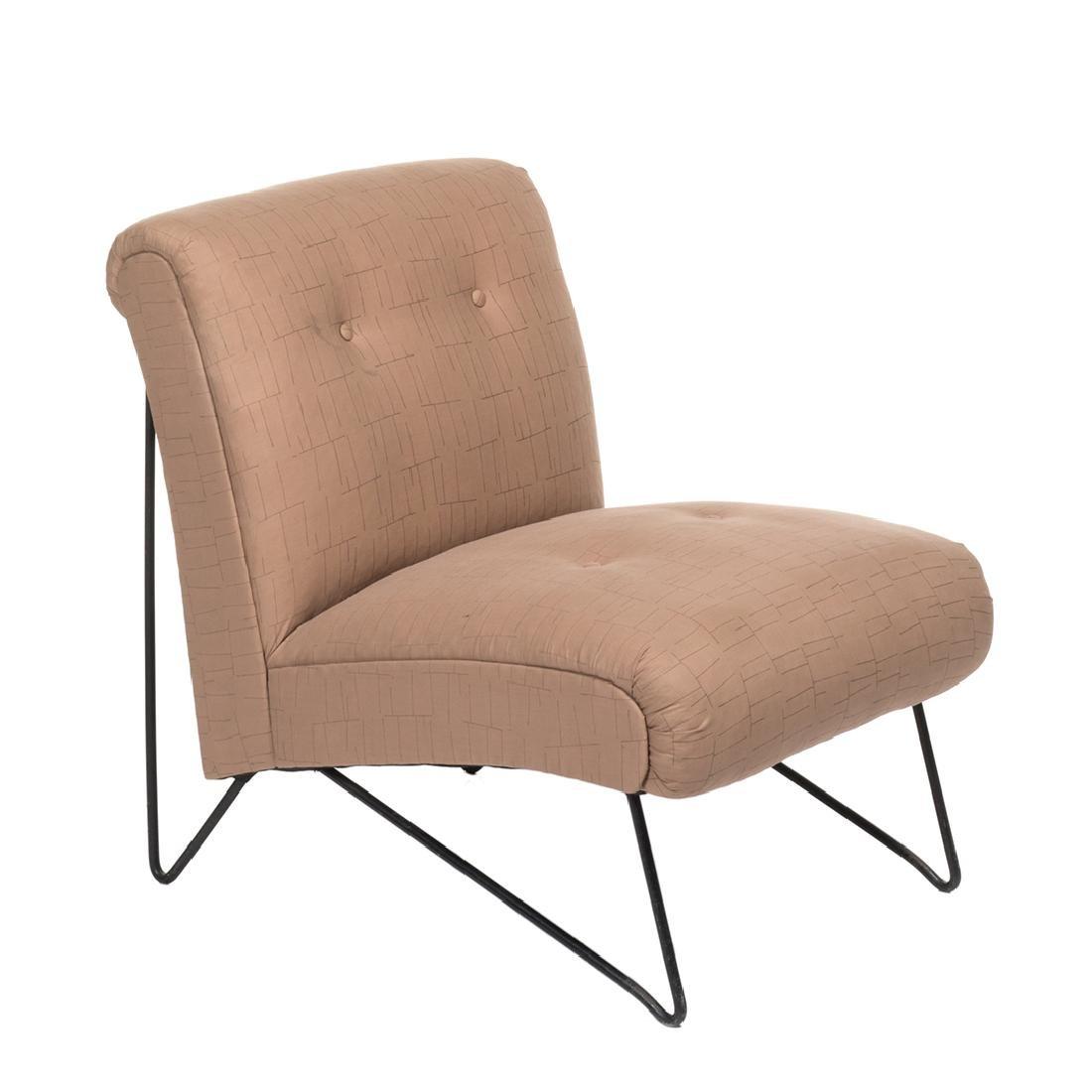 Hairpin Leg Slipper Chair