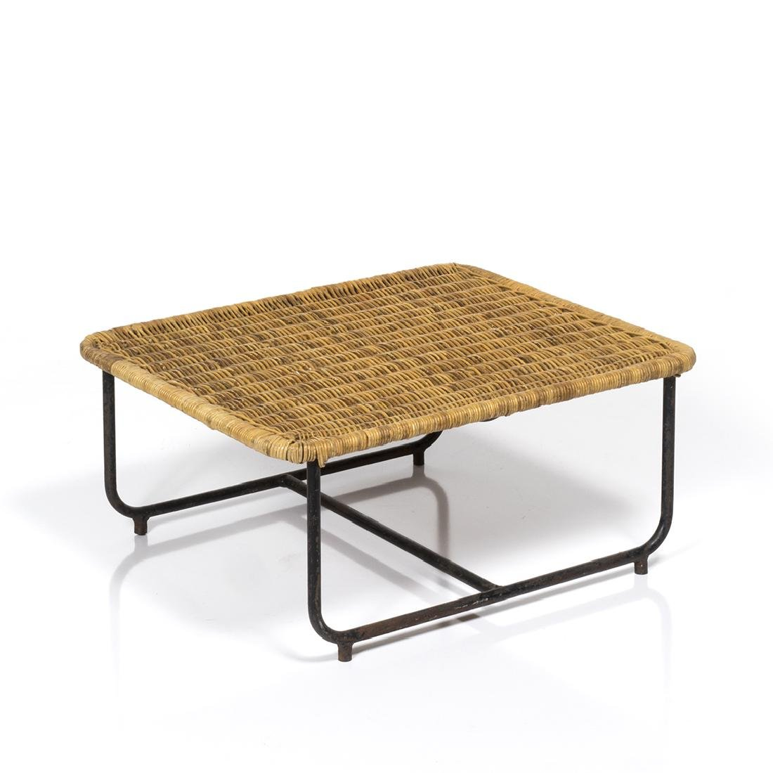 Rattan and Iron Low Table