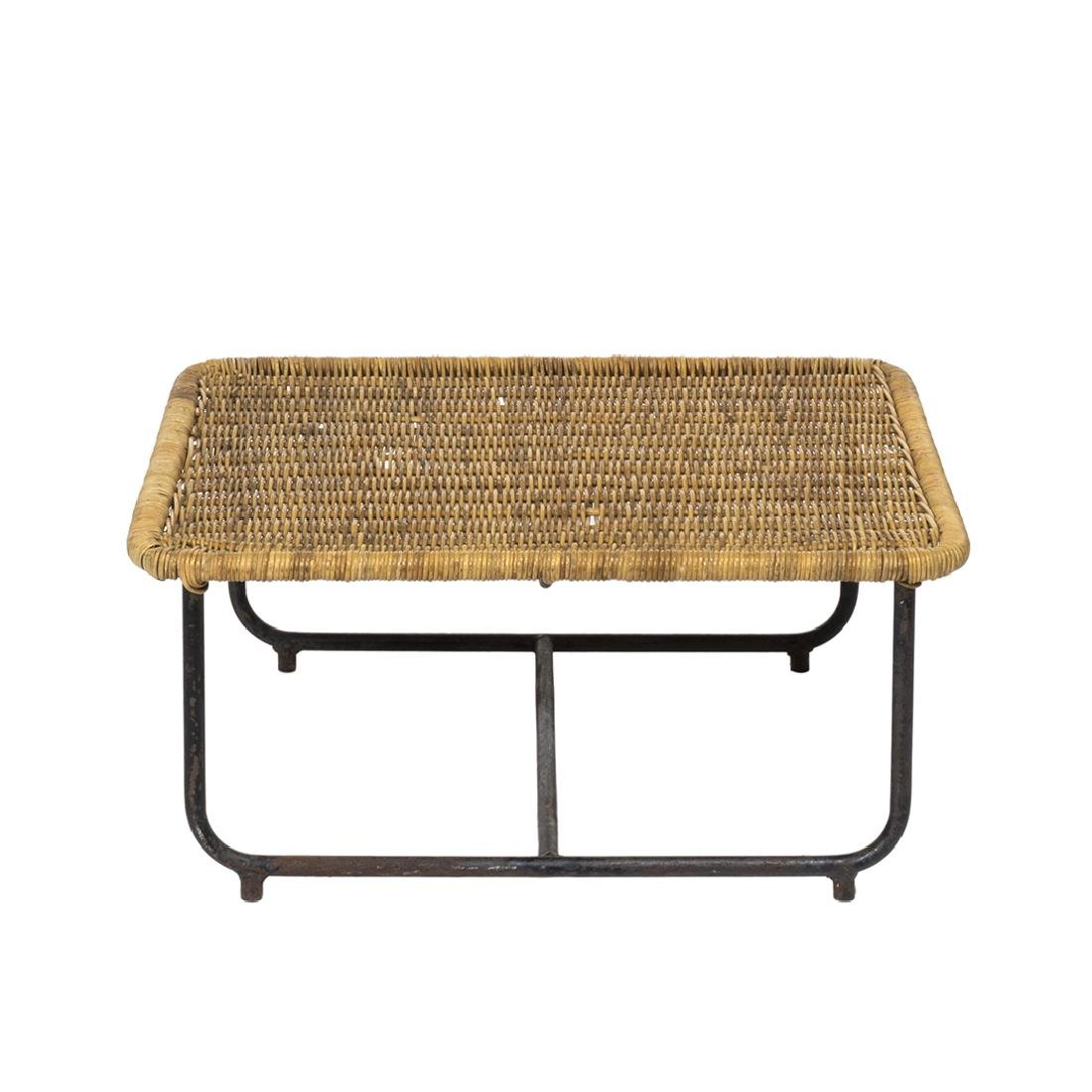 Rattan and Iron Low Table - 2