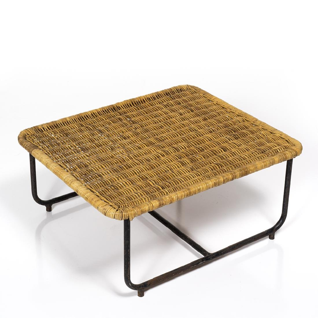 Rattan and Iron Low Table - 3