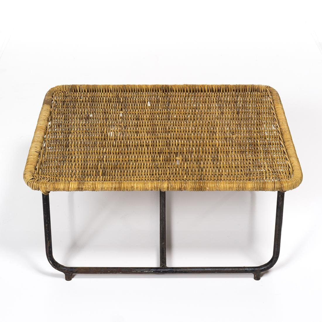 Rattan and Iron Low Table - 4