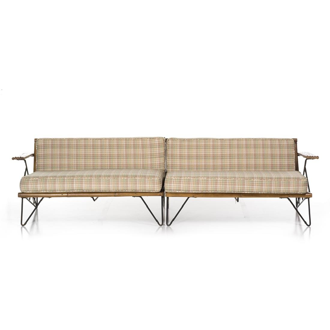 Mid-Century Iron and Bamboo Sectional - 2