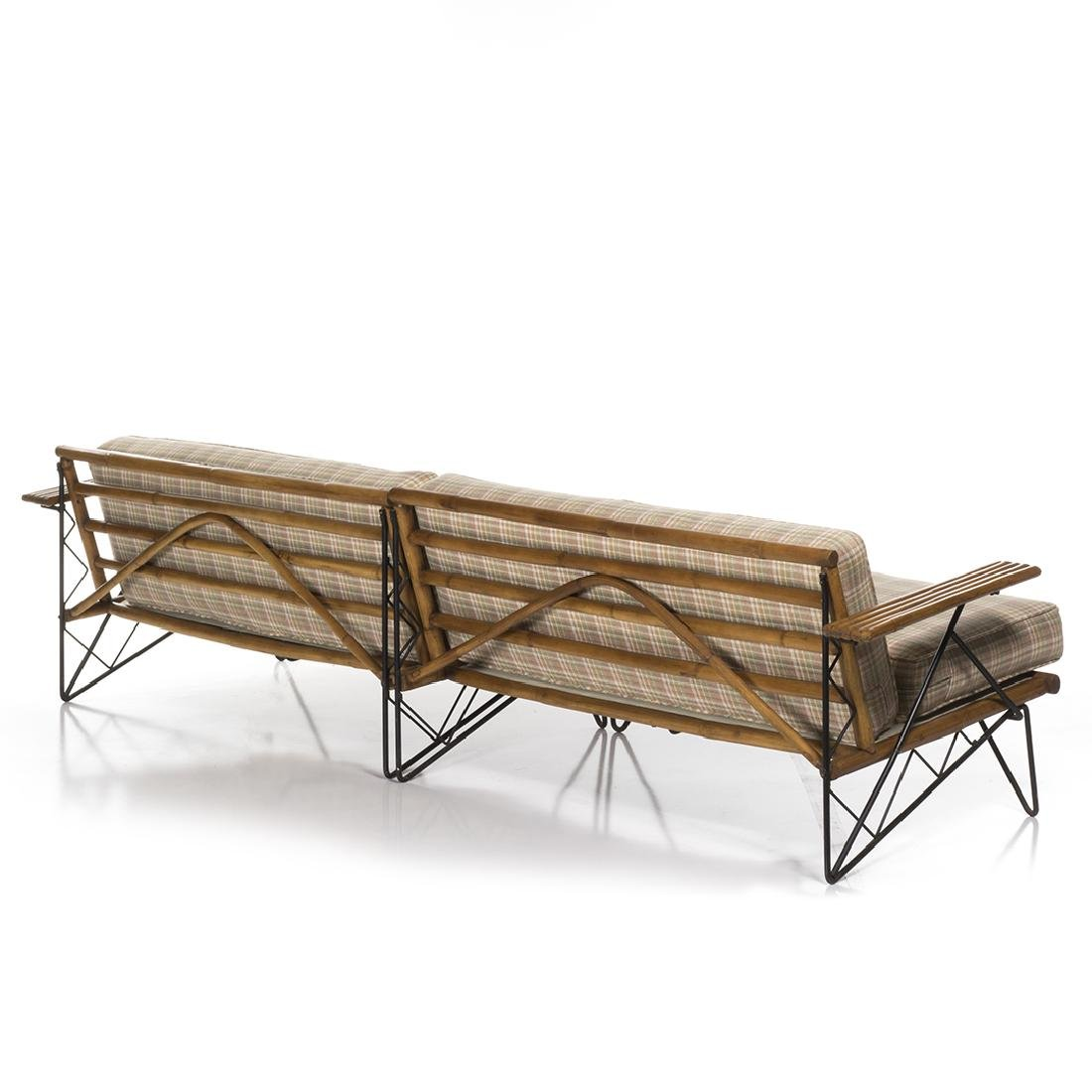 Mid-Century Iron and Bamboo Sectional - 3