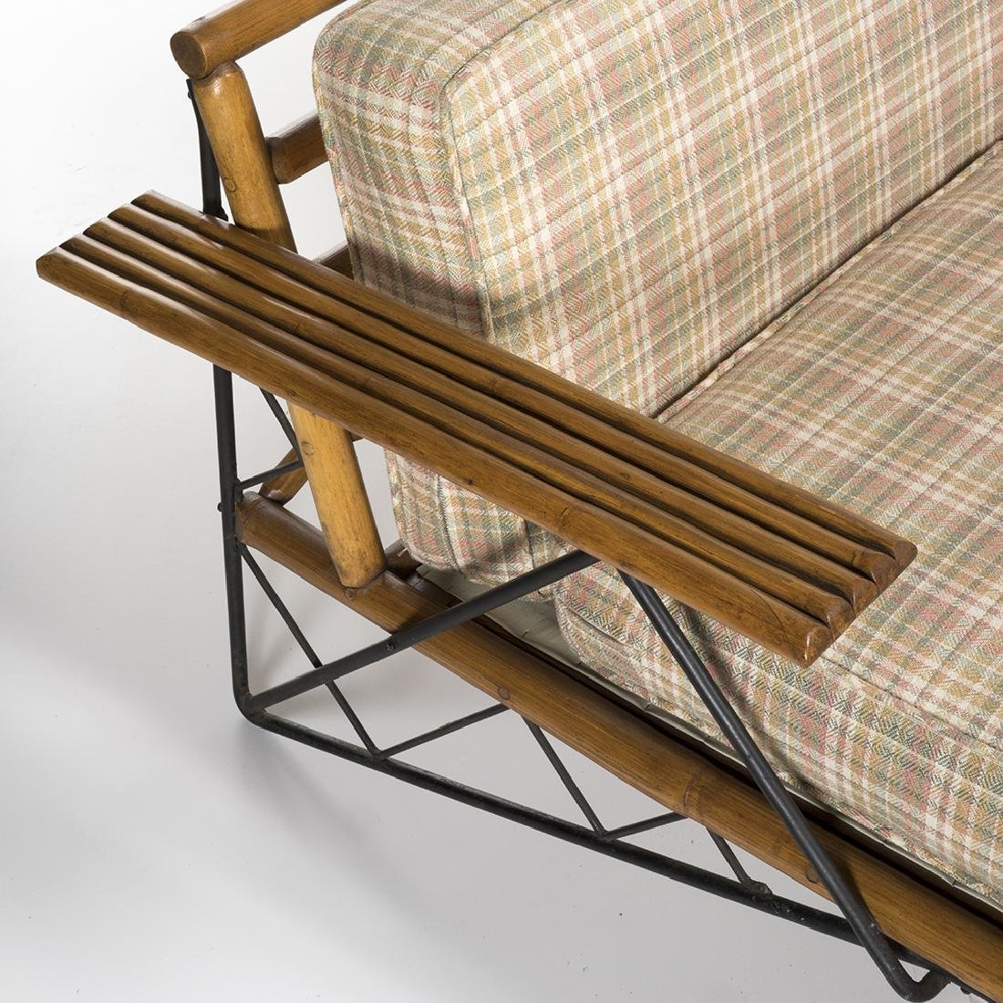 Mid-Century Iron and Bamboo Sectional - 5