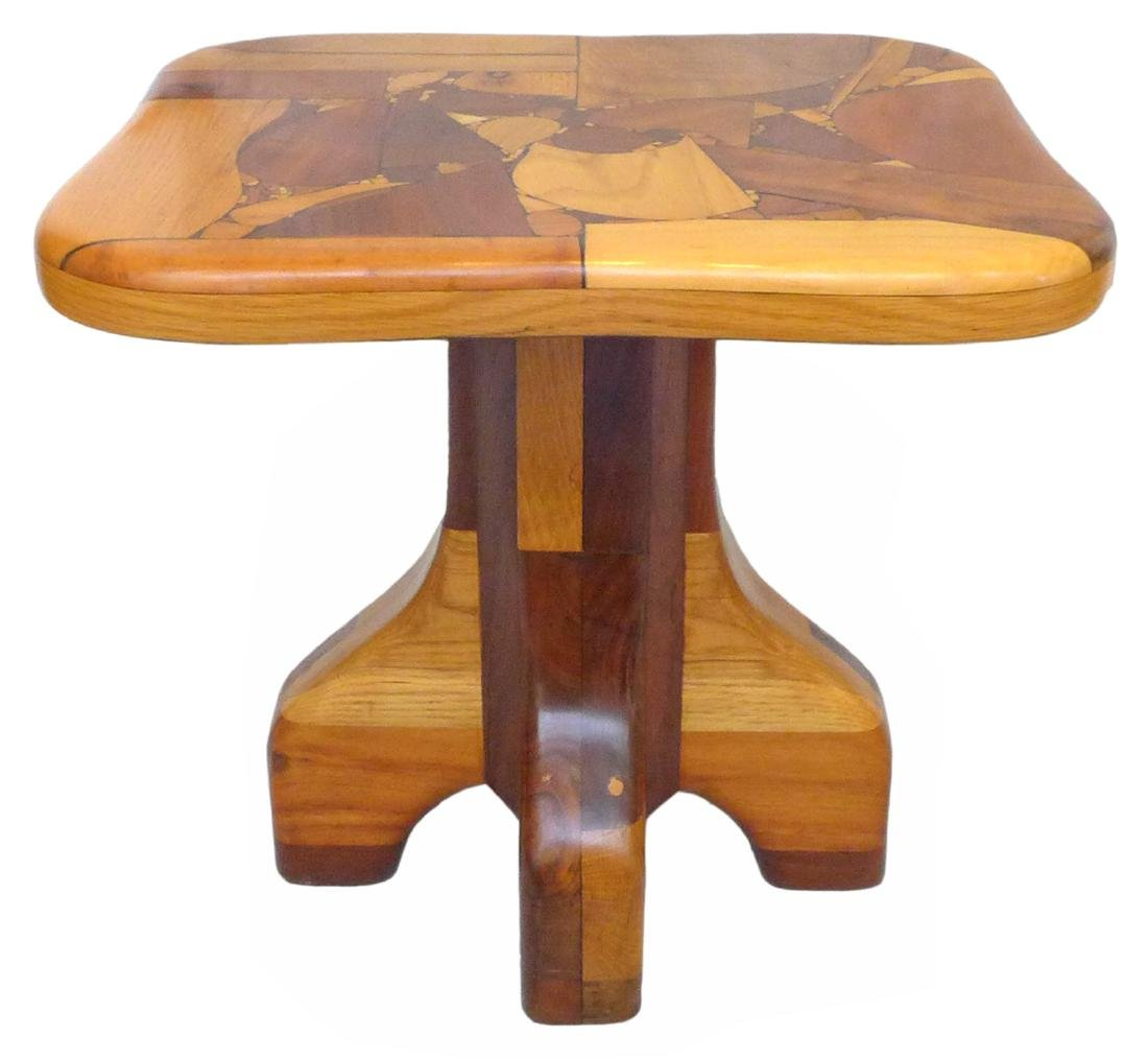 Organic Design Marquetry Side Tables (2) - 2