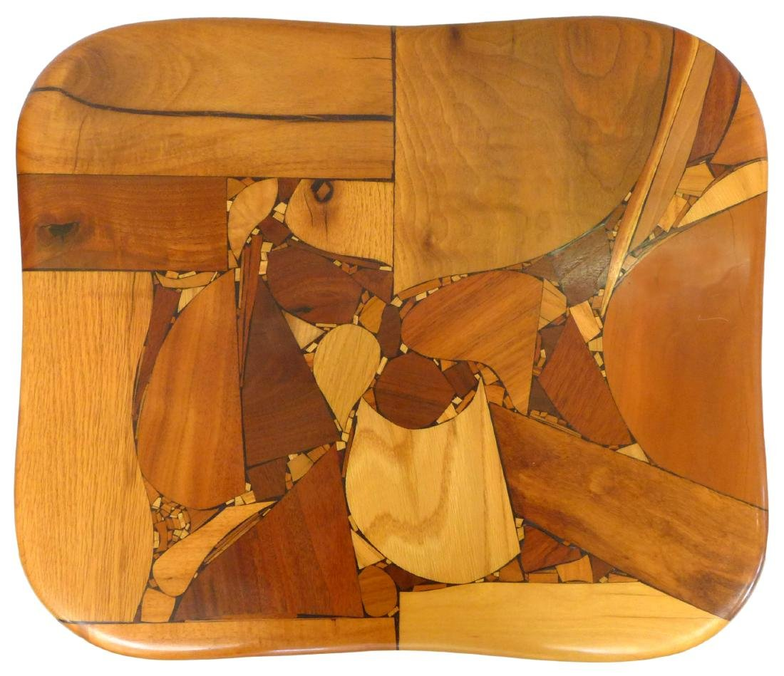 Organic Design Marquetry Side Tables (2) - 4