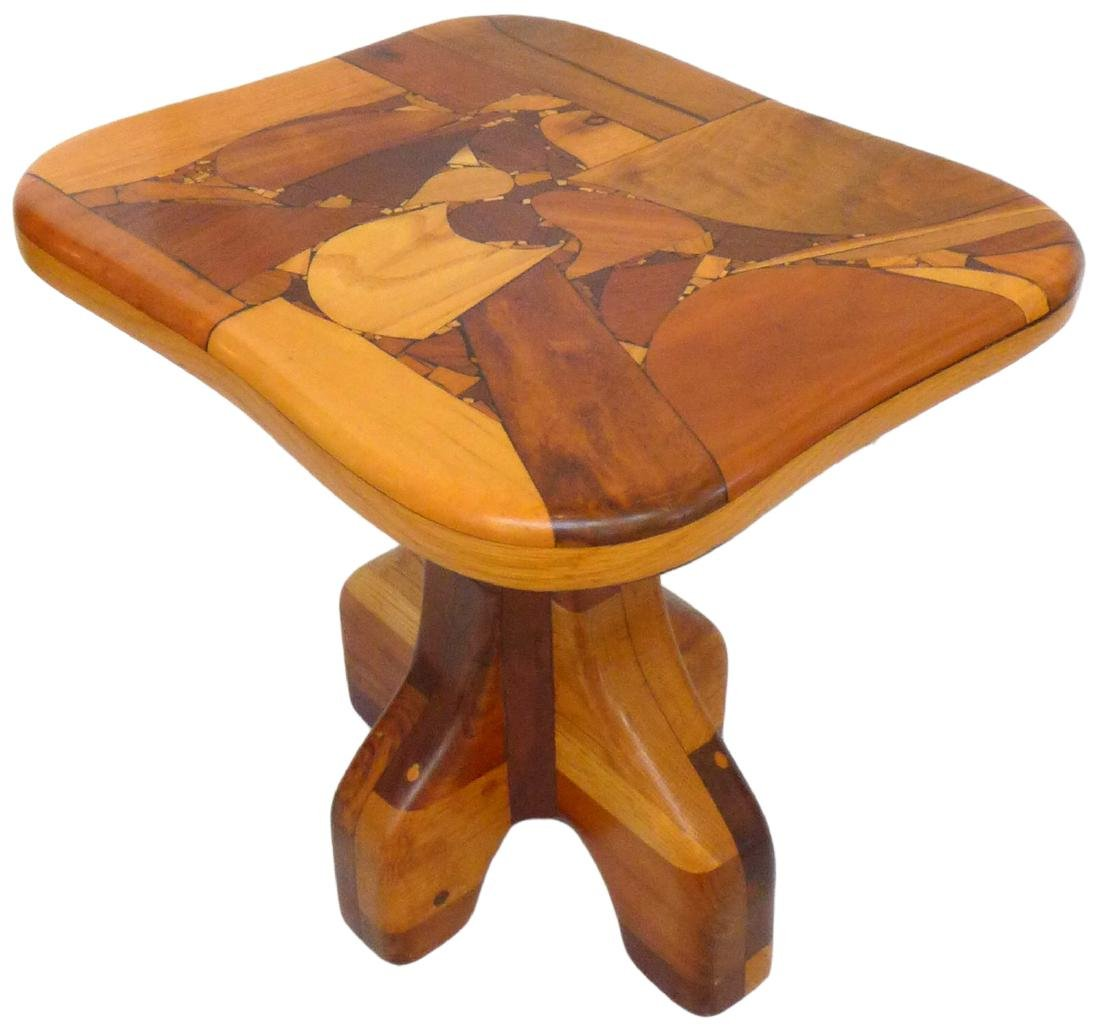 Organic Design Marquetry Side Tables (2) - 5