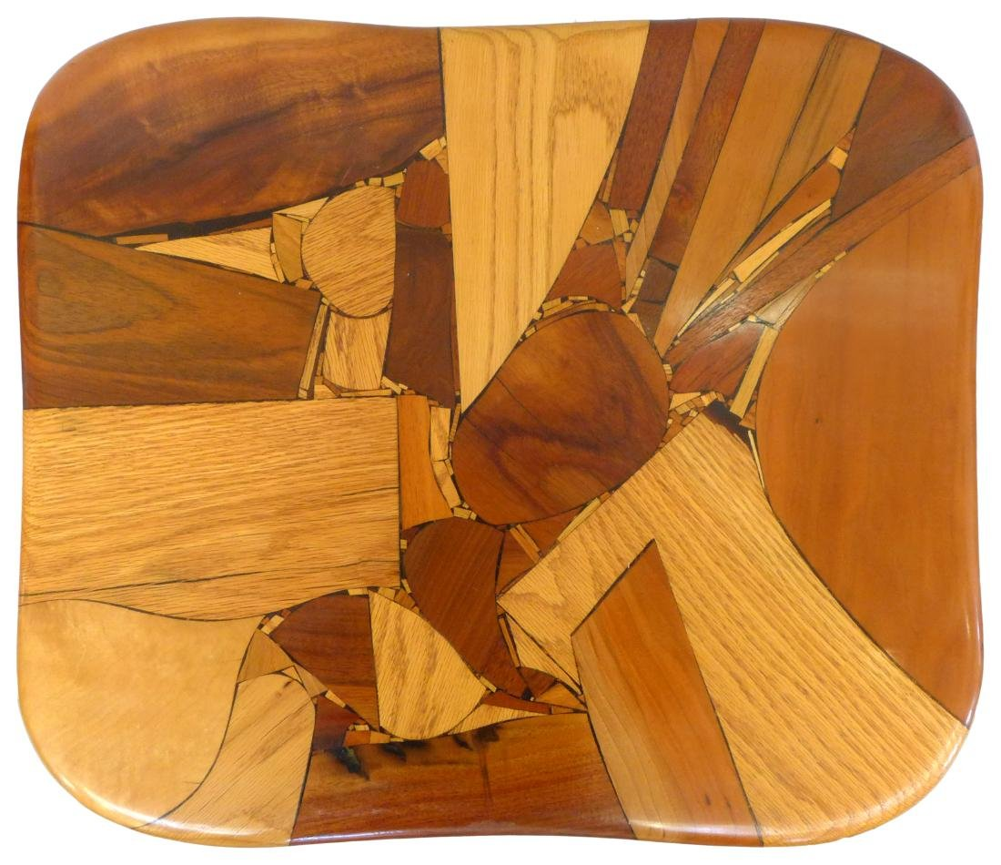 Organic Design Marquetry Side Tables (2) - 7