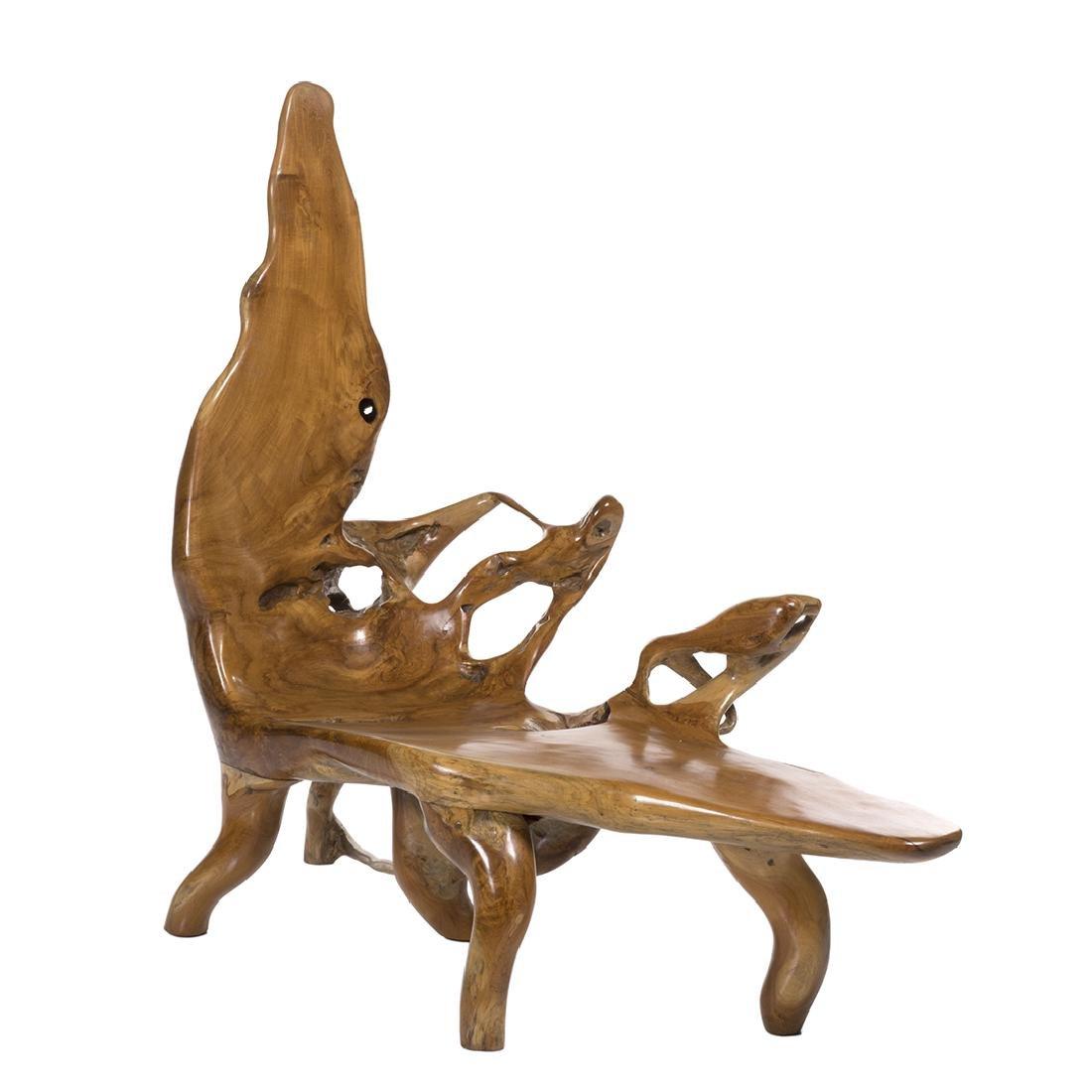 Organic Teak Chaise Lounge