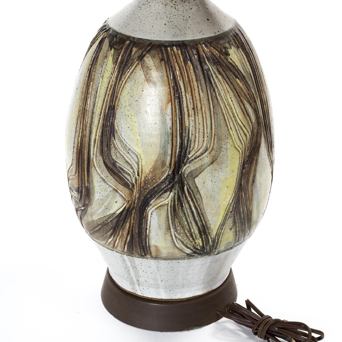 Joel Edwards and Maria Kipp Stoneware Lamp and Shade - 2